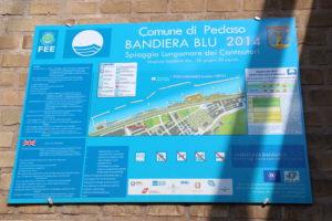Bandiera blu – blauwe vlag als aanduiding van een schoon strand | Vakantiewoning Casa Cipresse