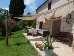 Loungen op de veranda | Vakantiewoning Casa Cipresse